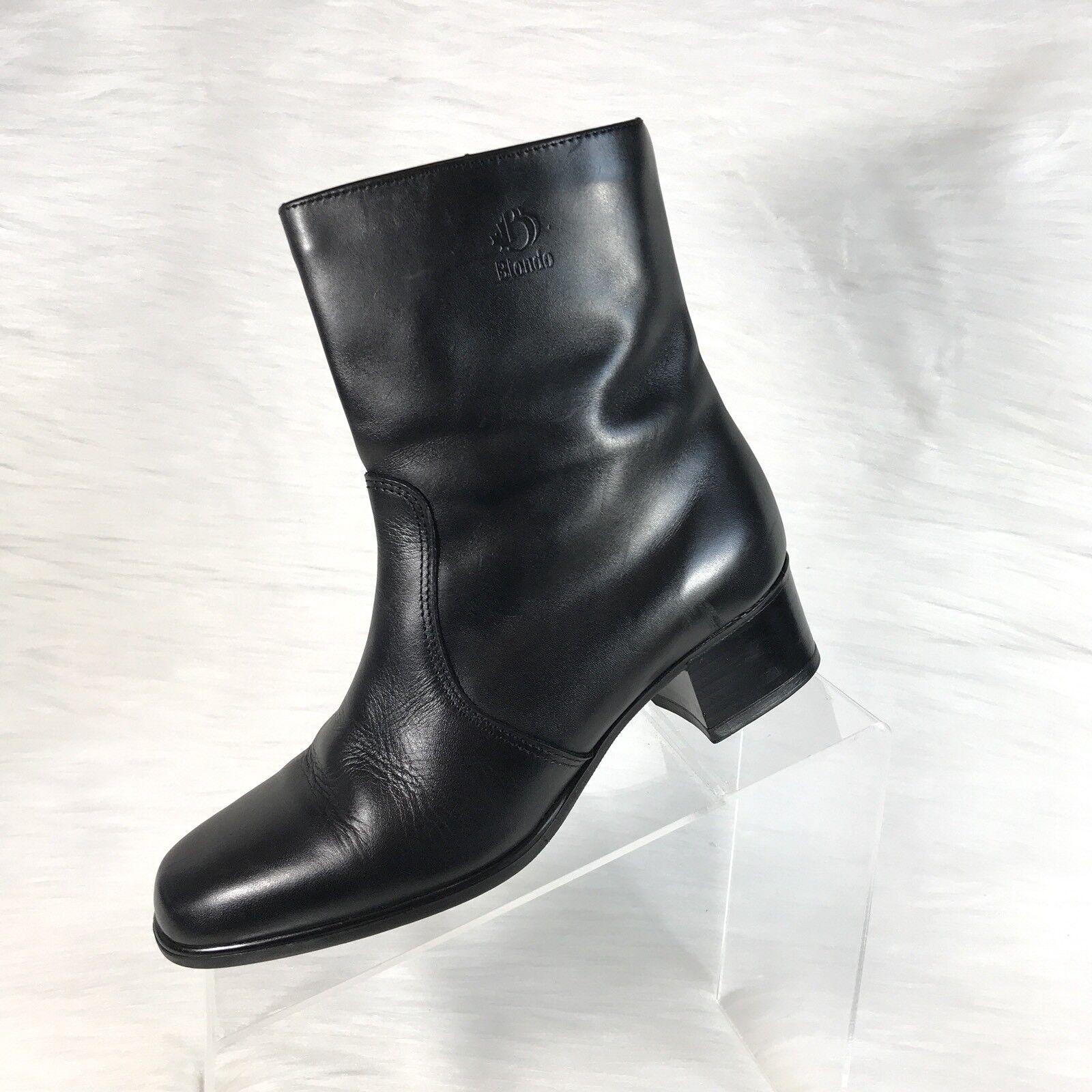 Blondo para mujer botas al Tobillo Cremallera Cuero Negro Tamaño 7 2A