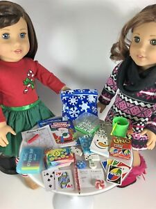 Christmas-Game-Set-Accessories-7-Mini-Games-for-18-inch-American-Girl-Dolls-Lot