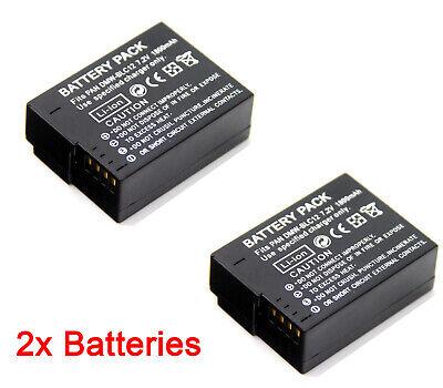 BATTERIA 2x per Panasonic Lumix dmc-gh2h dmc-g6 dmc-g6h dmc-g6k dmc-g6w dmc-g6x