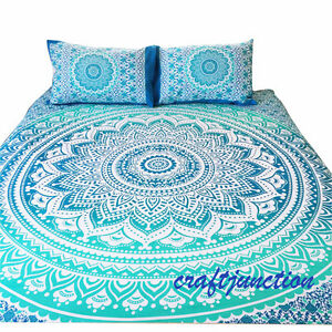 Single-Queen-Size-Bed-Quilt-Doona-Duvet-Cover-Set-Elephant-Mandala