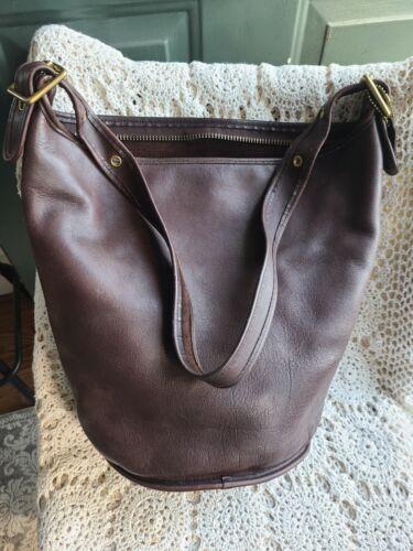 Coach Vintage Tan X-Large Bucket Duffle Feed Bag