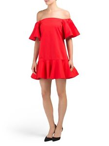 59df997a31c NWT Alexis Size XS  Aliana  Off the Shoulder Red Dress Ruffle ...