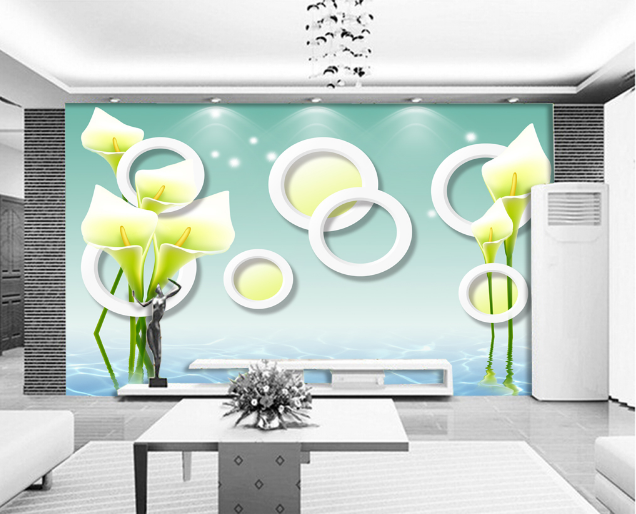 3D Flowers Lake 469 Wallpaper Murals Wall Print Wallpaper Mural AJ WALL AU Lemon