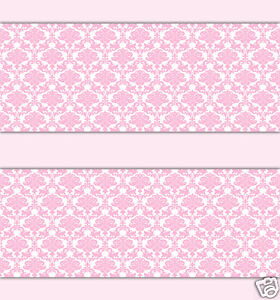Image Is Loading Pink Damask Wallpaper Border Wall Decals Baby Girl