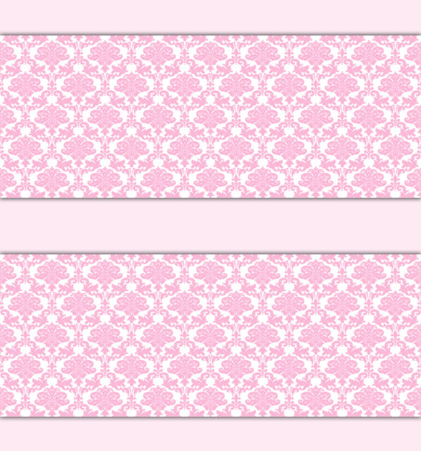 Pink Damask Wallpaper Border Wall Decals Baby Girl Princess Room Stickers Decor  sc 1 st  eBay : wall decals baby - www.pureclipart.com