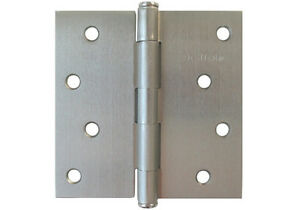 "Satin Nickel 4"" X 4"" Straight Square corner Exterior Door Hinges US15 Brushed"