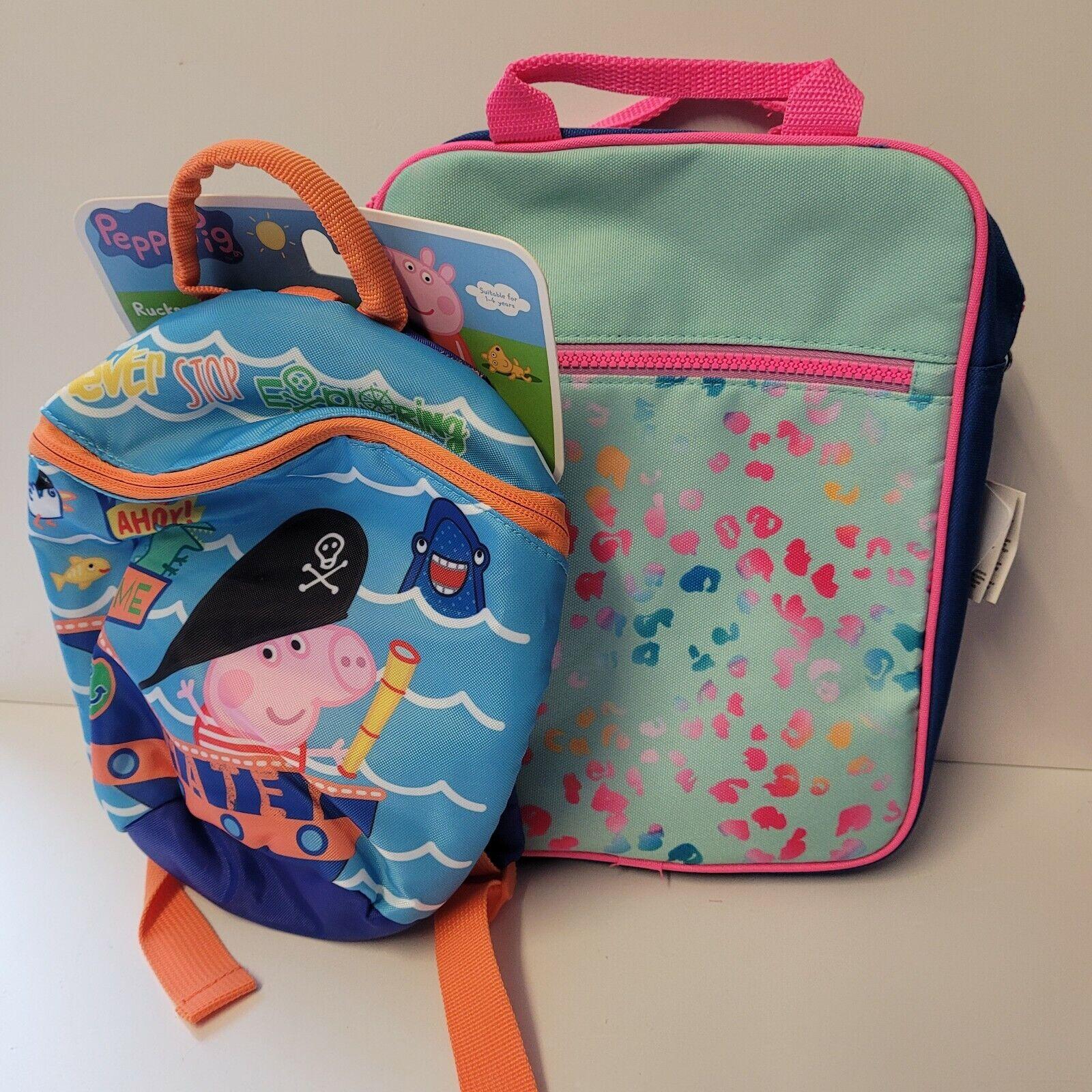 ‼️BRAND NEW‼️Peppa Pig George Backpack With Reins + girls pink school backpack