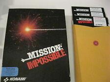 "Mission Impossible PC game 5.25"" disks complete Konami 1991"