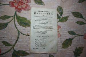 Livraison Rapide 1808 Halle Hebdomadaire 29/moyens Contre Mauvaise Humeur-afficher Le Titre D'origine La DernièRe Mode