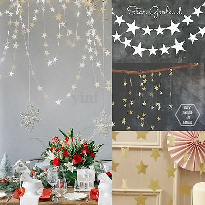 4M Star Hanging Paper Garland Wedding Party Birthday Room Door Banner Decoration