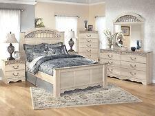 WARREN - 5pcs Traditional Cottage White Queen Poster Panel Bedroom Set Furniture