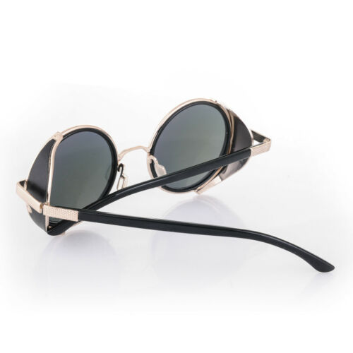 Cyber Goggles Steampunk Sunglasses  Mirror lens Round Halloween Punk Party Fun