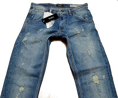 Jeans Gianni Versace Collection Vjc Men trousers Destroyed Unique Item Slim Fit