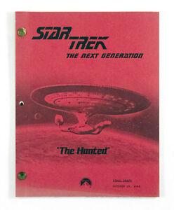 "STAR TREK:TNG ORIGINAL SCRIPT ""The Hunted,"" Written by Robin Bernheim"
