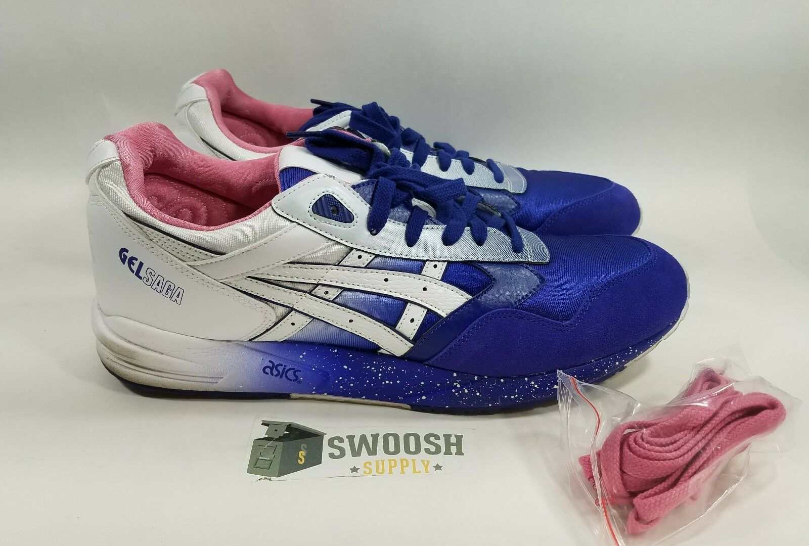 Asics Gel Saga Sz Purple 13 Extra Butter Cottonmouth Purple Sz Weiß Pre Owned 6acbeb