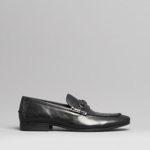Silver Street London CARLTON Mens Leather Smart Horesbit Pointed Loafers Shoes