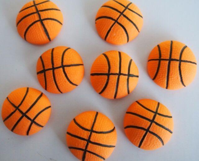 374fae516843 Basketball EDIBLE CUPCAKE TOPPERS Sports Balls FONDANT Cake Decorations