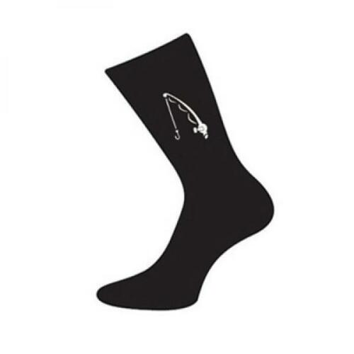 Fishermans Mens Novelty Black SOCKS Fisher Christmas Birthday Present Gift