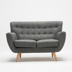 mezzanine-CLASSIQUE-MODERNE-CANAPE-2-places-en-gris-tissu-en-bois-pieds-confort