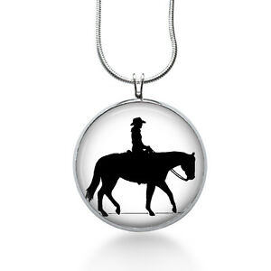 Cowgirl-black-and-white-necklace-horse-jewelry-rider
