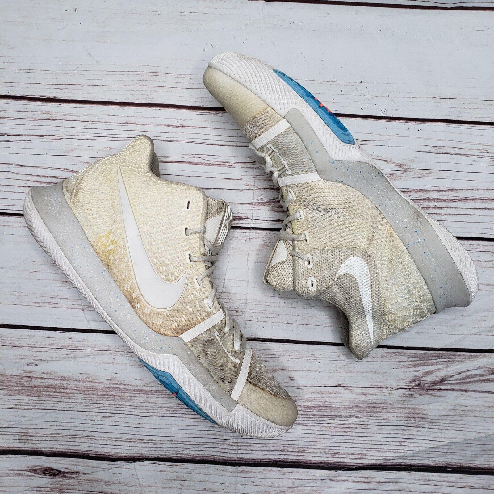 Nike Kyrie 3 Ivory Pale Grey Light Bone Summer Pack 852395-101 Sz 13 Basketball