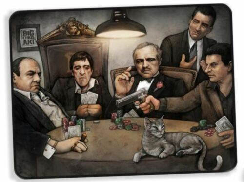 The Original Gangsters At The Poker Table Scarface Soprano Fleece Blanket 60x46