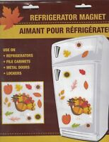 Refrigerator Magnets Decor Large Thanksgiving Fall File Cabinets Metal Doors