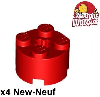 Lego 2x brique ronde brick round 2x2 orange transparent trans 3941 NEUF