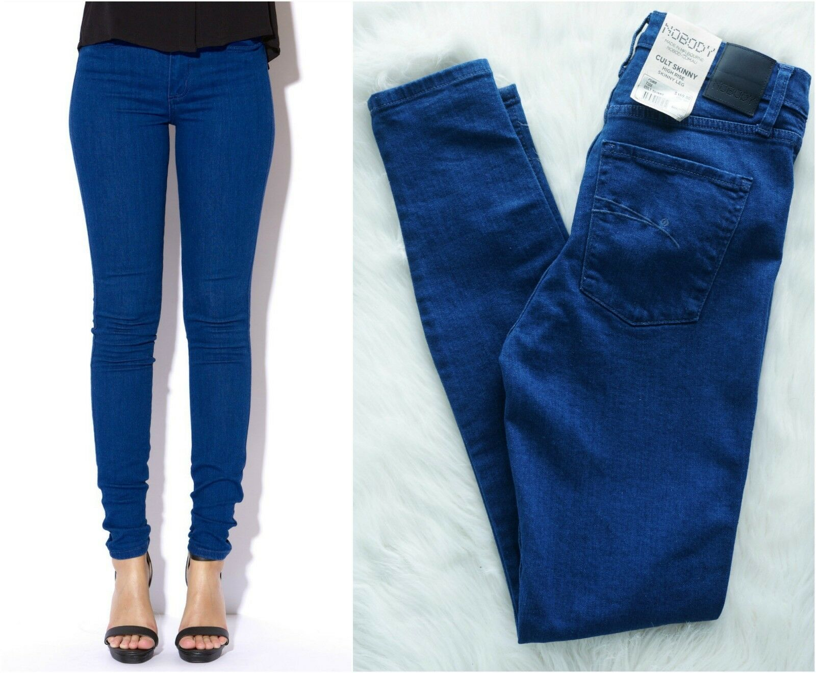 NOBODY Cult NWT High-Rise Skinny Tide Women's Jeans Size 24   AU 6 RRP