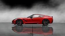 "2014 Red Chevrolet Corvette - 42"" x 24"" LARGE WALL POSTER PRINT NEW."