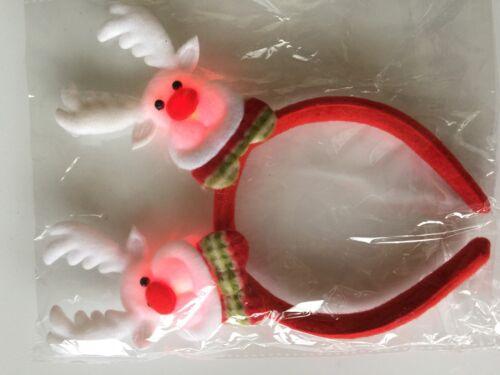 1 Christmas Xmas Santa Claus Party LED light Lightening Bling Hair Ear Headband