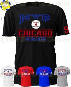 newest 36130 c6746 Details about Chicago Cubs Javier Baez MVP Jersey Tee Shirt Men Size S-5XL