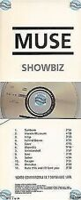 MUSE SHOWBIZ france french CD ALBUM PROMO card sleeve