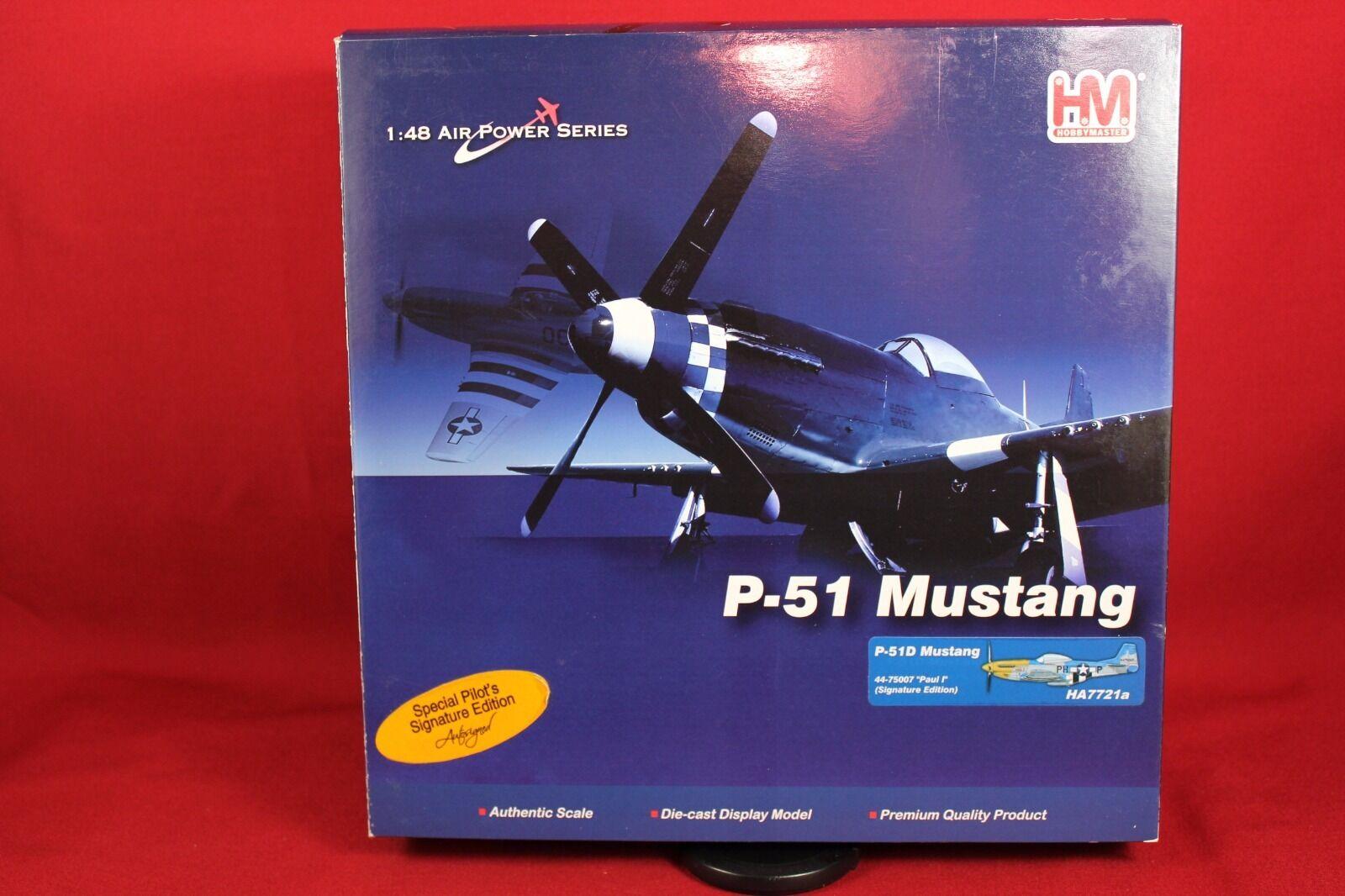 Hobby Master Signature Edition P-51D pantalla y coleccionista de Mustang modelo HA7721a