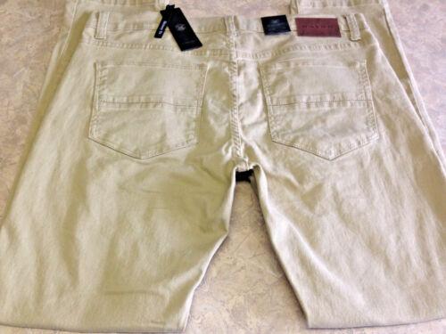 38x32 ~ Taille Jeans ~ Pants Hommes Nouveau Khaki Society m Skinny 41zqq80wx