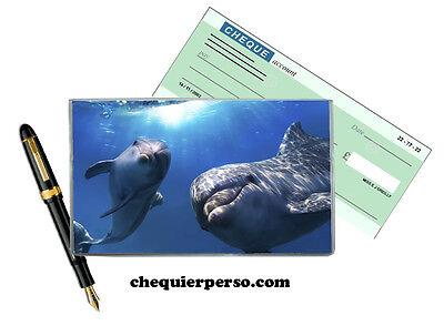 dauphins 01-004 protège porte chéquier format portefeuille