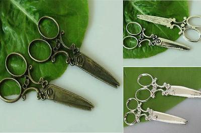 6pcs zinc alloy Big scissors charms 61mm 1A585