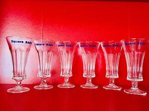 Liquore-Saba-set-6-bicchieri-pubblicitari-calici-originali-anni-50