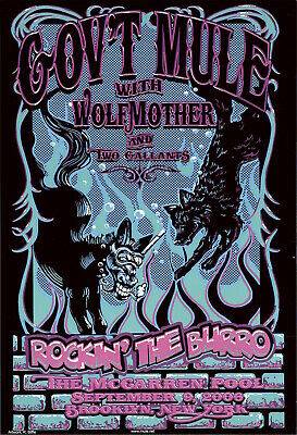 WOLFMOTHER 2006 live stage group//cover 2 sided promo poster Flawless New Old Stk