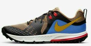 Men-039-s-Nike-Air-Zoom-Wildhorse-5-Size-8-AQ2222-200-Brown-Blue-Gold