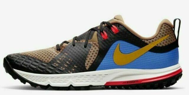 Men's Nike Air Zoom Wildhorse 5, Size 8 (AQ2222 200) Brown/Blue/Gold