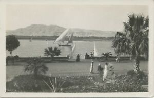 EGYPT-ca-1920-superb-mint-RP-postcard-LUXOR-General-View-of-the-Theban-Hills