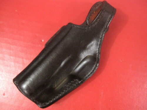 LH Bianchi #19//AL Leather Belt Holster for the Colt Government .380 Auto Pistol