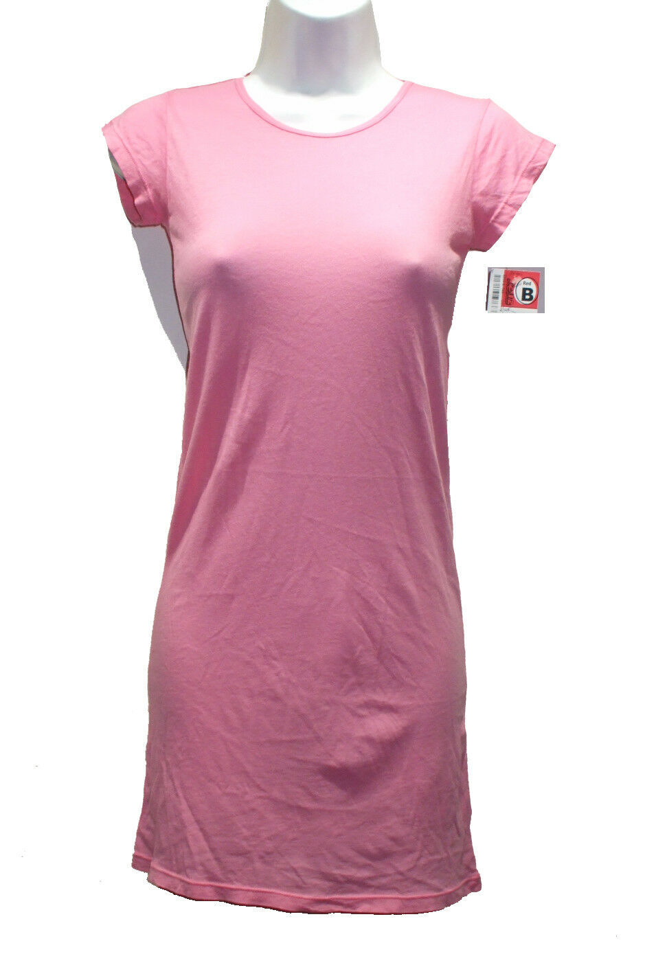 NEW LAmade pink Pink T-Shirt Dress Sz S 100% Cotton
