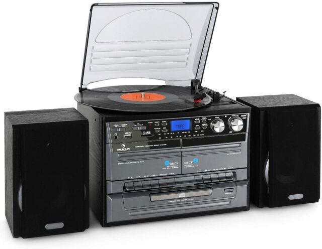 Pièce Défectueuse ! Auna TC-386WE Stéréo (MP3 / Cassette / CD Tourne-Disque,USB)