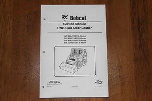 Details about BOBCAT S205 SKID STEER LOADER SERVICE MANUAL 6987050