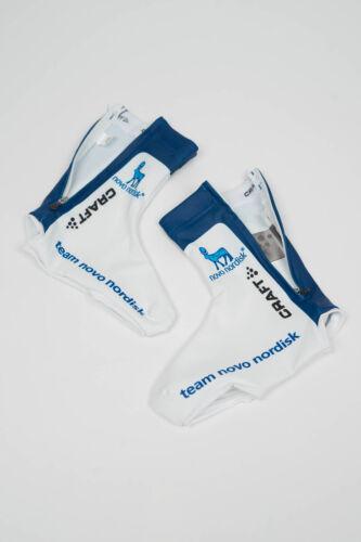 New 2017 Men/'s Craft Team Novo Nordisk EBC Lycra Shoe Covers Size L//XL Blue