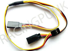 600mm 60cm Y Micro Standard Servo Extension Lead Wire Hitec Connector Male Plugs