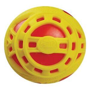 NEW-BRITZ-039-N-PIECES-E-Z-GRIP-BALL-JR-RED-YELLOW-BMA859-OUTDOOR-TOYS-BALLS