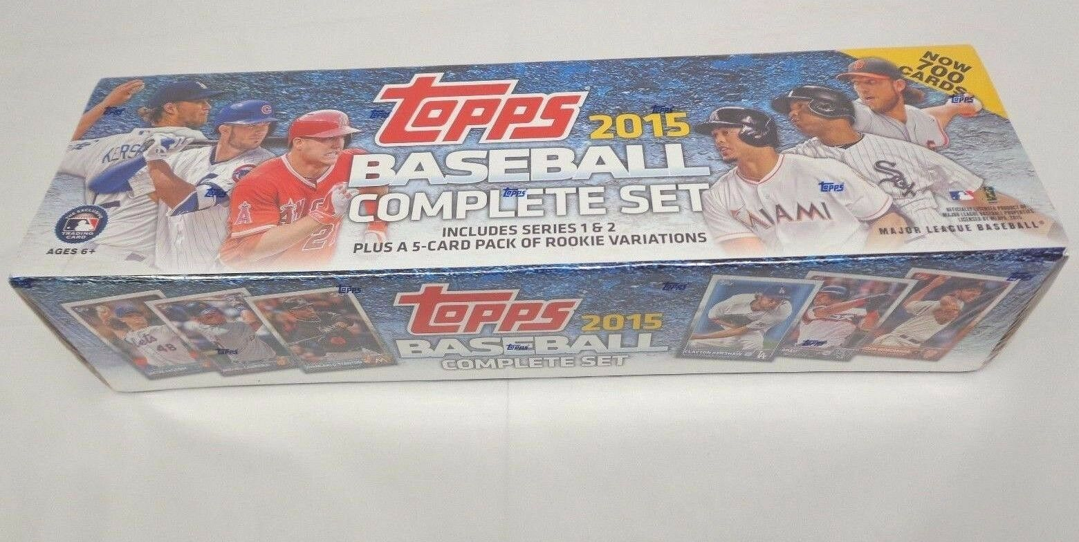 2015 Topps Complete 700 Card Baseball Factory Set 5 Rookie Variations